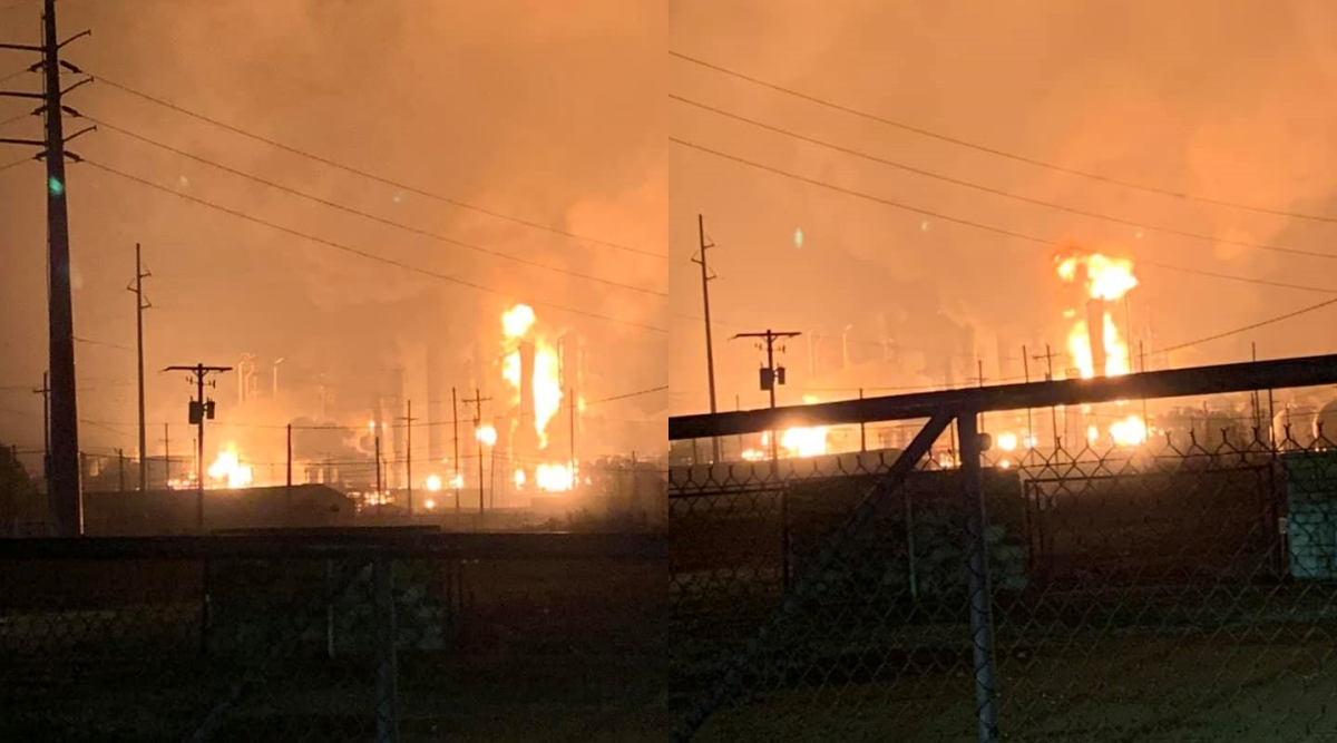 Texas Chemical Plant Explosion Sent Large Fireball into the Sky