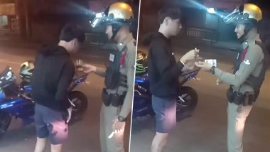 Thai Teenager Gets Caught Speeding After Family Forgot His Birthday, Policeman Celebrates it by Cutting Cake (Video of Sweet Gesture Goes Viral)