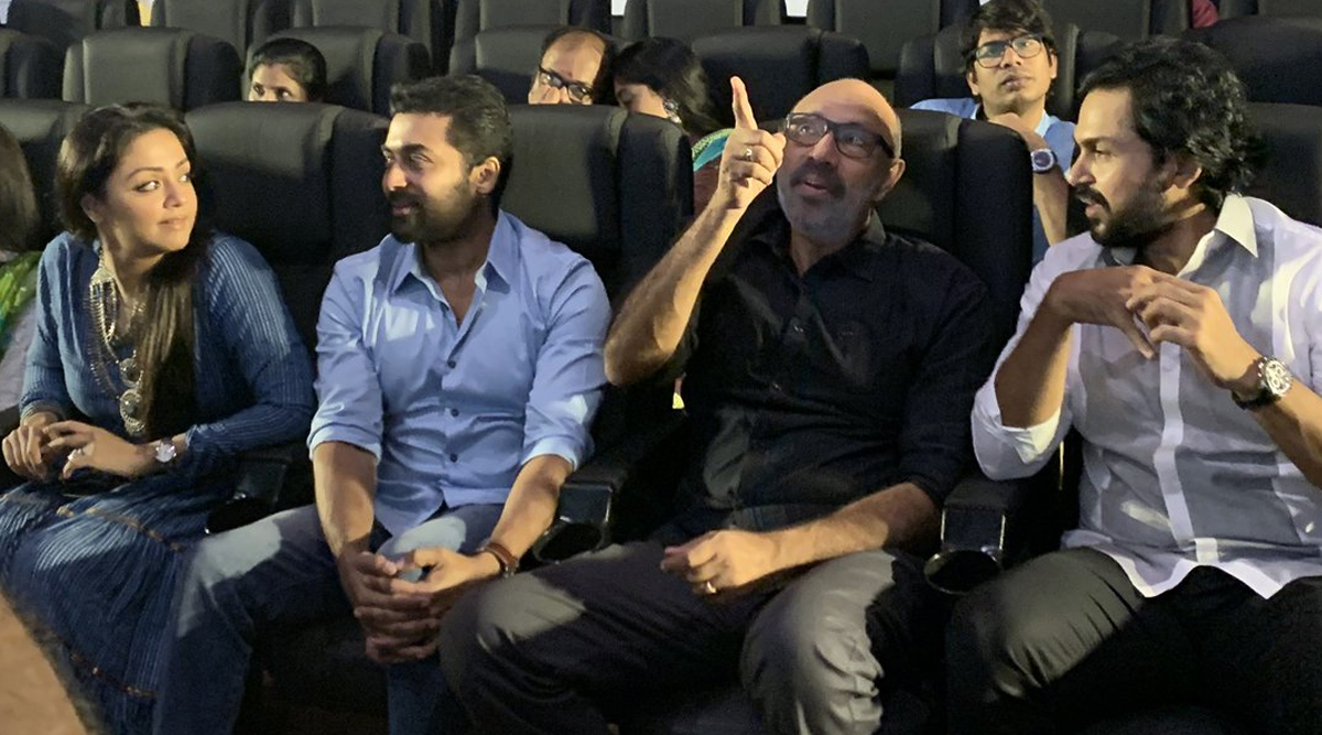 Thambi Audio Launch: Karthi, Jyotika, Suriya, Sathyaraj and Other Tamil Stars Gather To Celebrate The Grand Musical Event (View Pics)