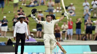 New Zealand vs England 1st Test Match 2019 Report: Tom Latham Ton Leads NZ Charge on Rain-Curtailed Day