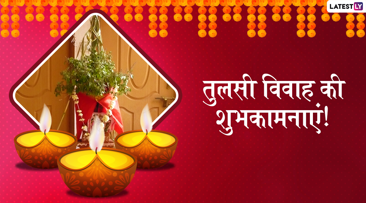 Tulsi Vivah 2019 Messages in Hindi: WhatsApp Images, Greetings, Quotes and SMS to Send Your Wishes on This Auspicious Day
