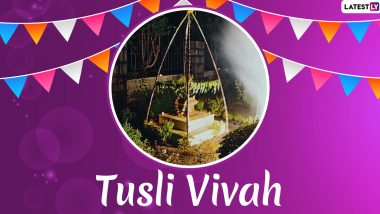 Tulsi Vivah 2020 HD Images, Quotes, Greetings & Dev Uthani Ekadashi Gyaras Wishes: Share GIFs, WhatsApp Stickers, Lord Vishnu & Maa Tulsi Wallpapers & Messages On Prabodhini Ekadashi