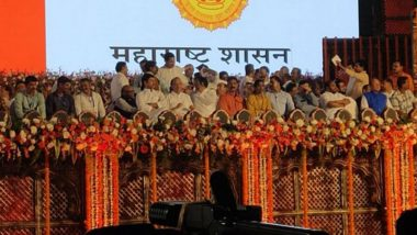 Maharashtra CM Swearing-in Ceremony: Uddhav Thackeray, Six Others Take Oath as Maha Vikas Aghadi Government Takes Over
