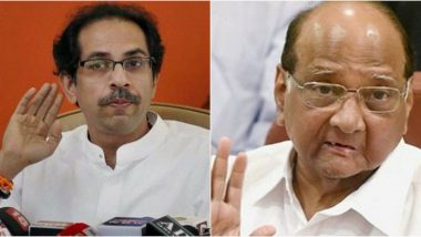 Shiv Sena-NCP-Congress Govt in Maharashtra? Uddhav Thackeray Meets Sharad Pawar as Deadline to Stake Claim Nears