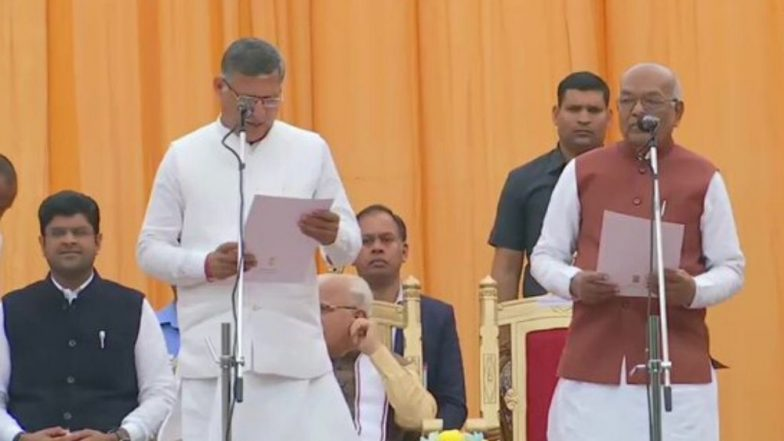 Haryana Cabinet Expansion: Anil Vij, Kanwar Pal, Sandeep Singh, 7 Others Take Oath as New Ministers; Check Full List