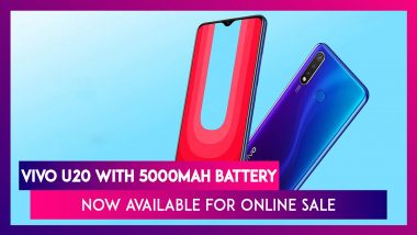 Vivo U20 With 5000mAh Battery Now Available For Online Sale On Amazon India & Official E-Store; Prices, Features, Variants & Specifications