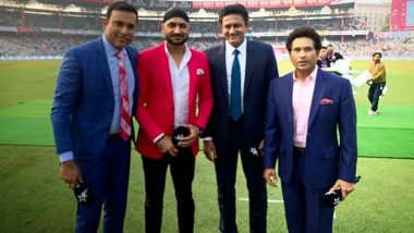 Reunion at Eden Gardens! Sachin Tendulkar Meets Former Teammates From Famous 2001 Test Win Against Australia, Master Blaster Shares Pic on Instagram