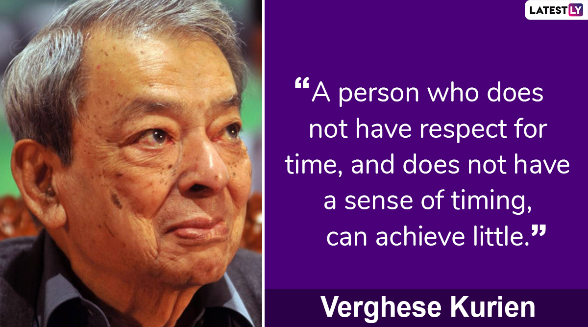 Dr Verghese Kurien 98th Birth Anniversary: Famous Quotes by 'Father of White Revolution' to Share Messages on National Milk Day
