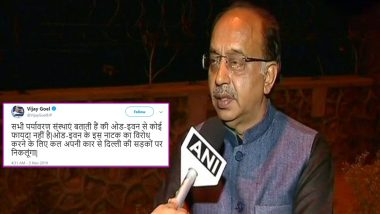 Vijay Goel Vows to Defy Odd-Even Rule by Driving His Car in Delhi, Gets Trolled on Twitter