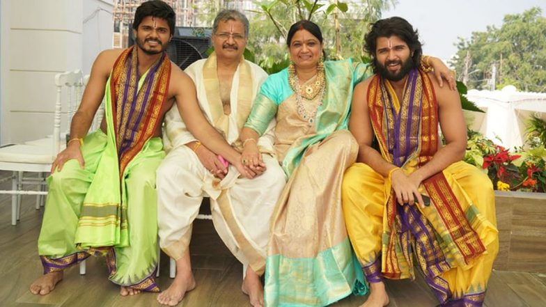 Vijay Deverakonda Poses With His Family As he Buys a Brand New Plush Apartment (View Pic)