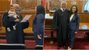 Aww! Mom Takes Oath to Become Lawyer While Judge Holds Her Baby, Video Goes Viral
