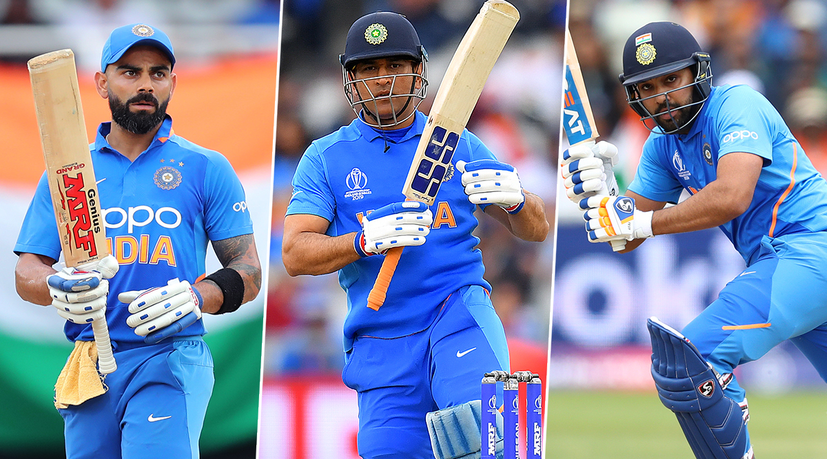 Virat Kohli, MS Dhoni and Rohit Sharma Top The list of Most Searched Cricket Players On Internet Globally