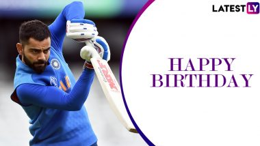 Happy Birthday Virat Kohli Wishes & WhatsApp Messages: Send Greetings to Indian Skipper on His 31st Birthday With These Quotes on Facebook, Twitter and Instagram!
