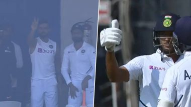 Mayank Agarwal Fulfills Virat Kohli's Demand of 200 During IND vs BAN 1st Test Match, Becomes Second Fastest to Smash Two Double Centuries (Watch Video)