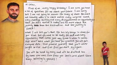 Virat Kohli Writes a Heart-Felt 'Note to Self' on His 31st Birthday, Teaches His Younger Self 'Chiku' About His Journey and Life Lessons