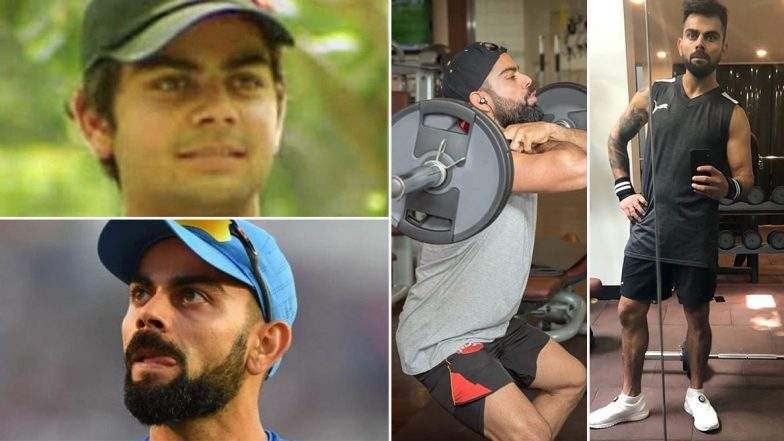 Virat Kohli Fitness Regime: Workout & Vegan Diet of Indian Cricket Team Captain That Has Helped Him Transform From a Boy With a Chubby Face to the Most Aesthetic Cricketer (Watch Videos)