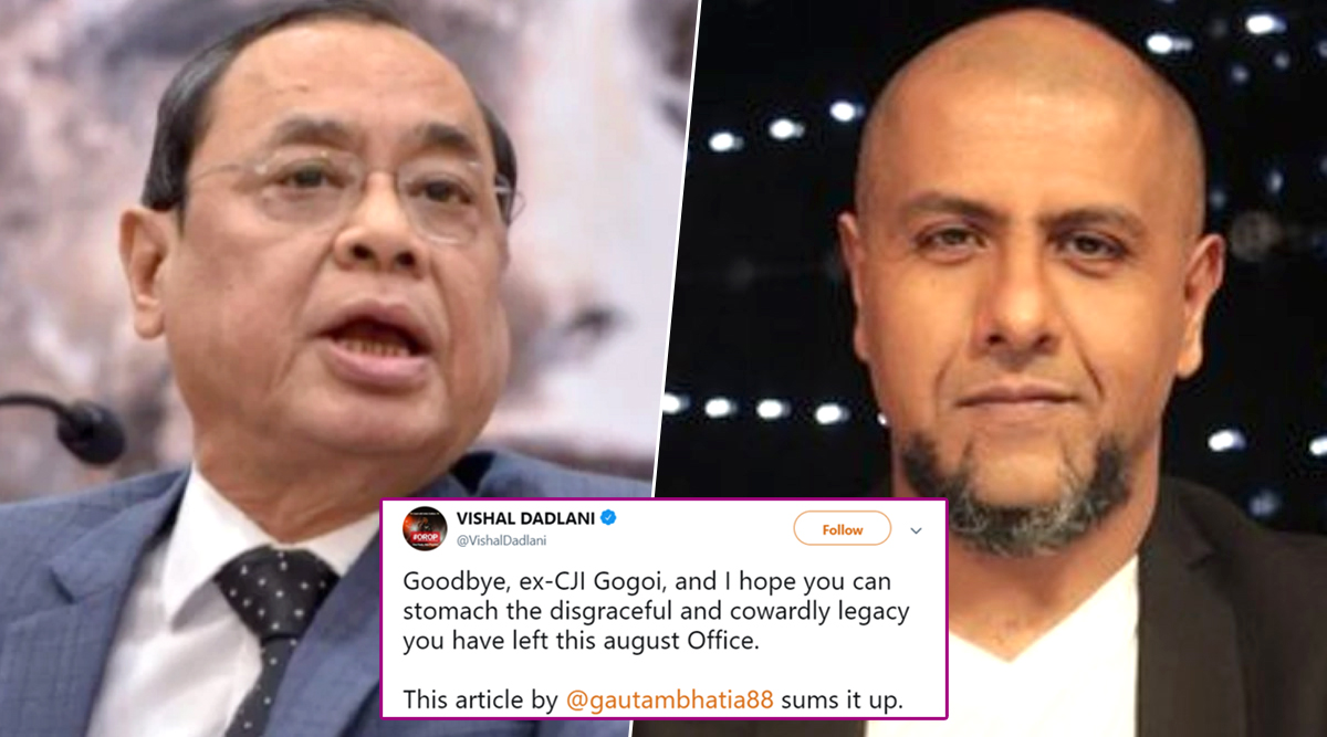 #SackDadlaniFromIndianIdol Trends on Twitter After Vishal Dadlani Calls Former CJI Ranjan Gogoi 'Cowardly' and 'Disgraceful'