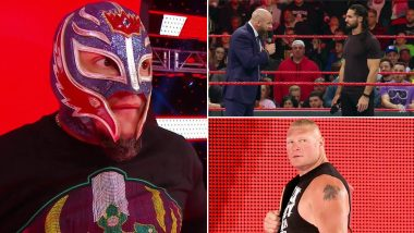 WWE Raw Nov 4, 2019 Results and Highlights: Rey Mysterio Attacks Brock Lesnar and Challenges Him for Title Match, Seth Rollins Confronted by NXT Roster & Triple H (Watch Videos)
