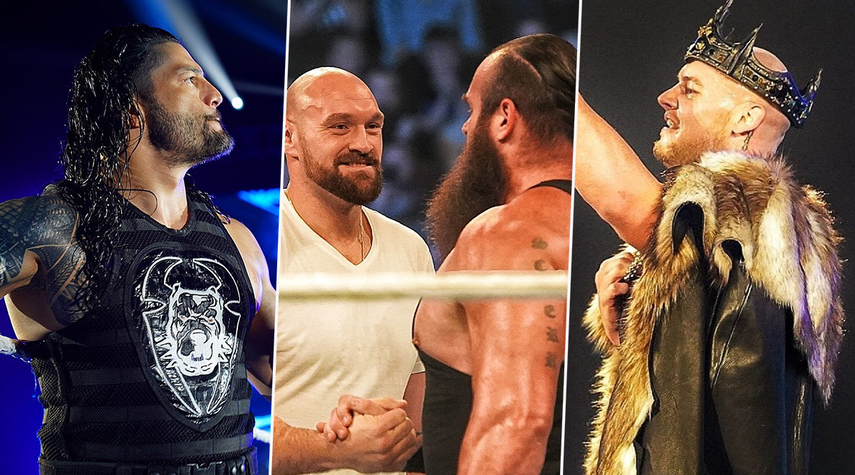 WWE SmackDown Nov 8, 2019 Results and Highlights: King Corbin Defeats Roman Reigns; Tyson Fury and Braun Strowman Form Tag Team (Watch Videos)