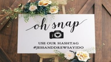 How to Create a Unique Wedding Hashtag That No One Else Will Have!