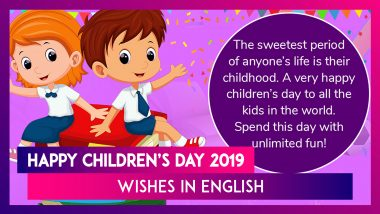 Children's Day 2019 Greetings: WhatsApp Messages, SMS to Share on Pandit Nehru's Birth Anniversary