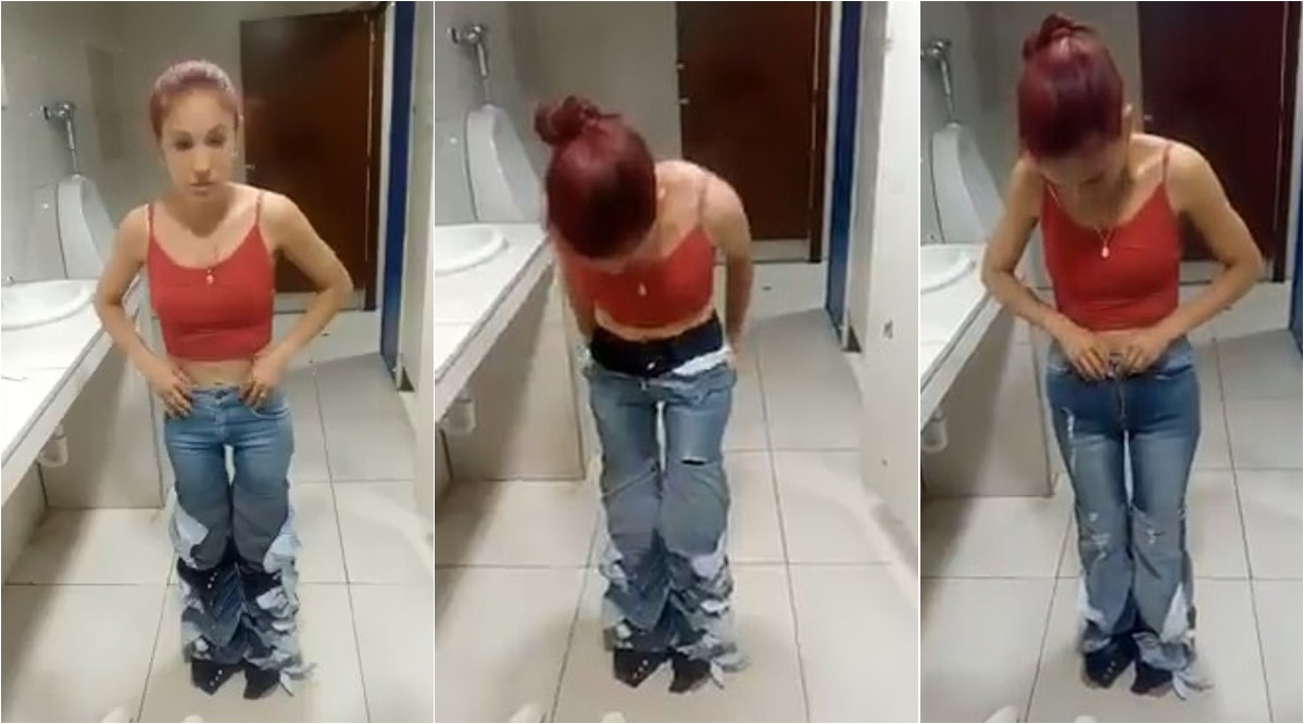 Woman Caught With Pants Down! Shoplifter Tries to Steal Eight Pairs of Jeans By Wearing All of Them At Once (Watch Video)