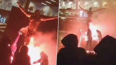 Zlatan Ibrahimovic Statue Set Ablaze by Angry Malmo Fans After Becoming Part-Owner of Rival's Hammarby, Video Goes Viral!