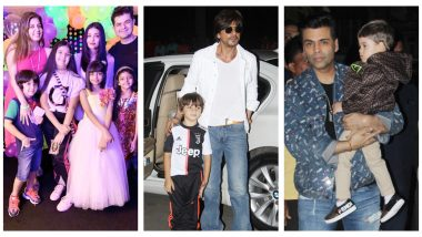 Aaradhya Bachchan's 8th Birthday Party: Shah Rukh Khan with Abram, Karan Johar with Yash and Roohi Make an Appearance (See Pics)