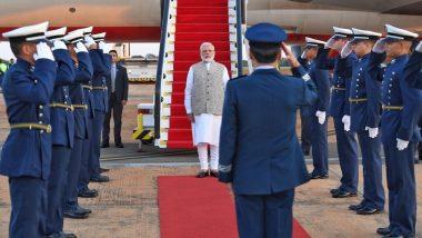 PM Narendra Modi Arrives in Brasilia for 11th BRICS Summit, Will Meet Vladimir Putin and Xi Jinping