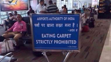 Old Image of Incorrect Sign Board at Chennai International Airport Goes Viral Again, Authorities Claim It's Morphed