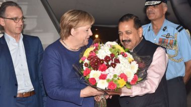 German Chancellor Angela Merkel Reaches India for Fifth Inter Governmental Consultations