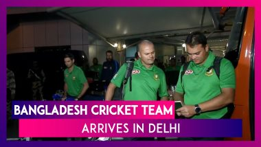 Bangladesh Cricket Team Arrives In Delhi For The First T20I To Be Played Against India