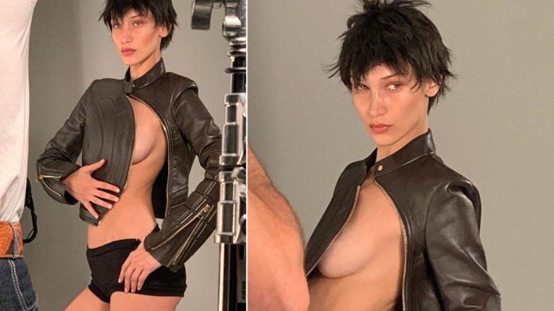 Bella Hadid Leaves Little to the Imagination As She Unzips Her Leather Jacket for Pop Magazine Issue (View Hot Pics)