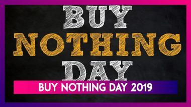 Buy Nothing Day 2019: A Boycott Against Black Friday