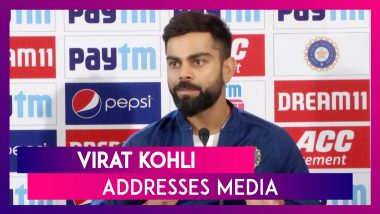 Indian Skipper Virat Kohli Addresses Media And Speaks About Day-Night Test In Kolkata