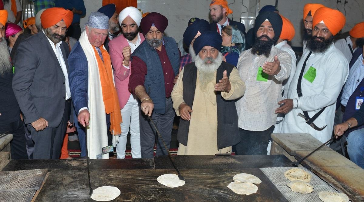 Britain's Prince Charles Visits Bangla Sahib Gurudwara in Delhi, Tries Flipping 'Chapati'
