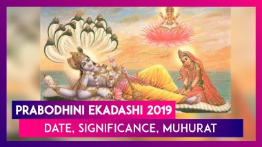 Prabodhini Ekadashi 2019: Date, Significance Muhurat, Puja Vidhi Related To Devotthan Ekadashi