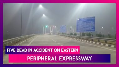 Five Die In Accident On Eastern Peripheral Expressway Near Greater Noida