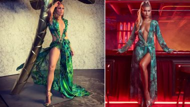 Oops! Fashion Nova Allegedly Copies Jennifer Lopez's Iconic Grammys Jungle Dress for Holiday Season, Versace Sues the Retailer