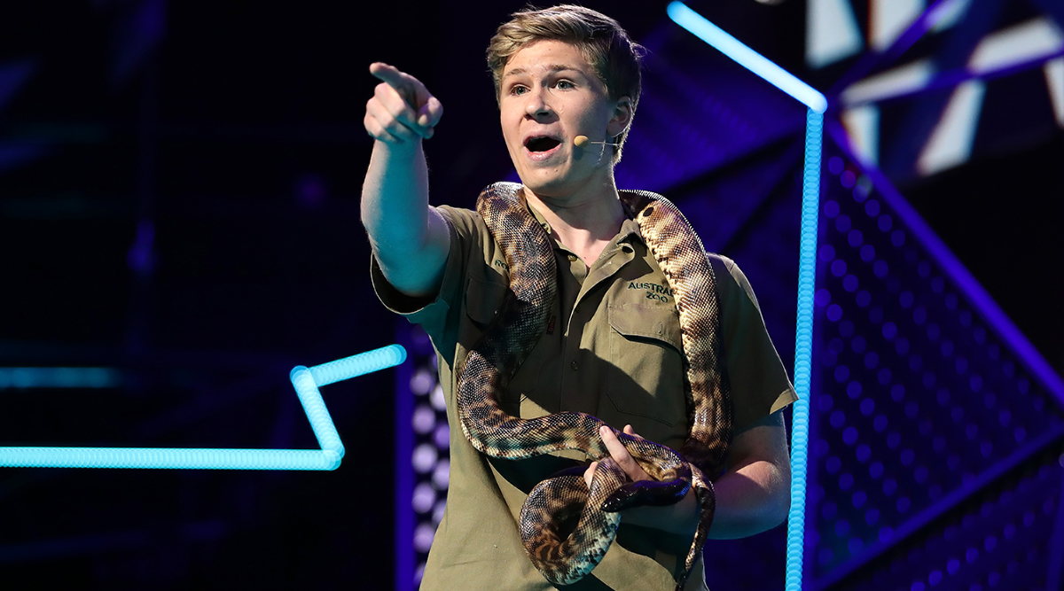 Robert Irwin Brings Black-Headed Python on Stage at ARIA Awards in Sydney (View Pics and Video)