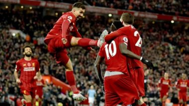 Andrew Robertson Trolls Roberto Firmino's Reaction During the Match Between Liverpool and Manchester City, EPL 2019-20