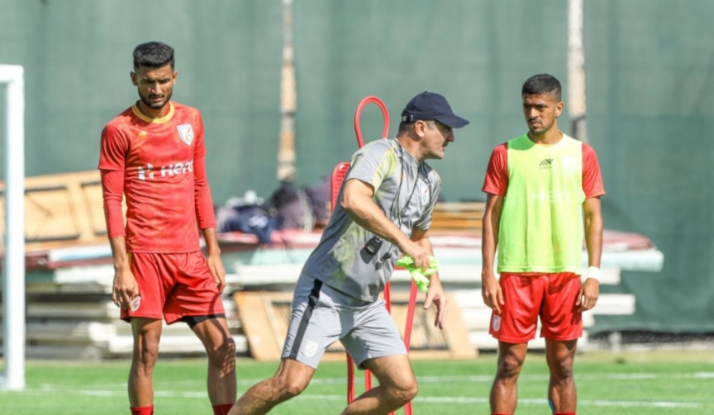 India vs Afghanistan, 2022 FIFA World Cup Qualifiers: Blue Tigers Sweat it Out Ahead Of The Fourth Match in Second Round (See Pics)