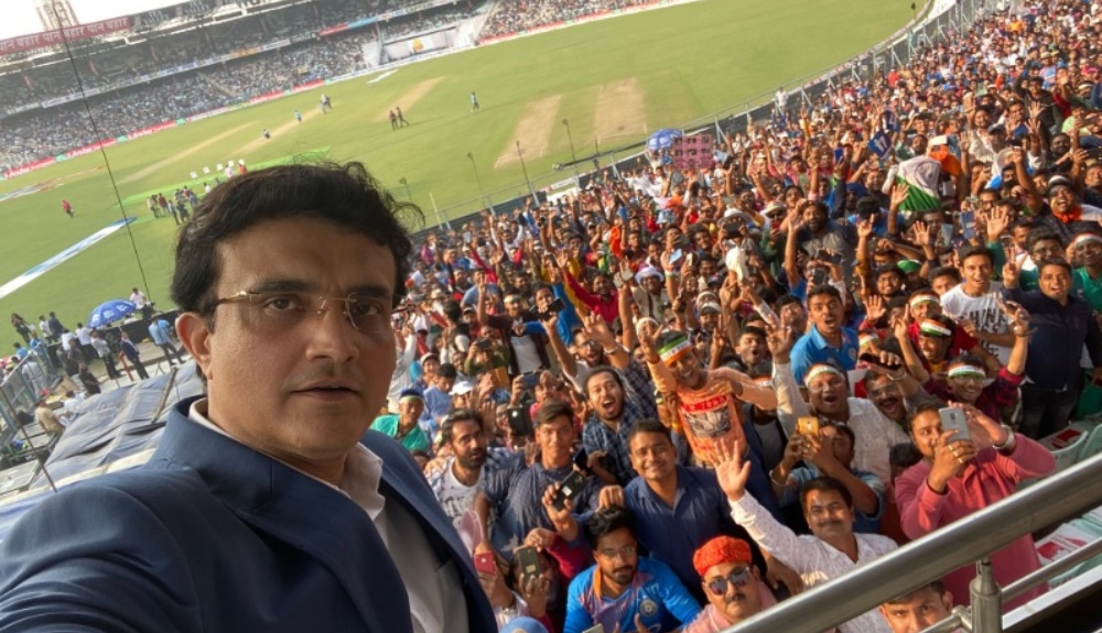 Sourav Ganguly Clicks Selfie With Fans At Eden Gardens During IND vs BAN, Day-Night Test 2019 (See Pic)