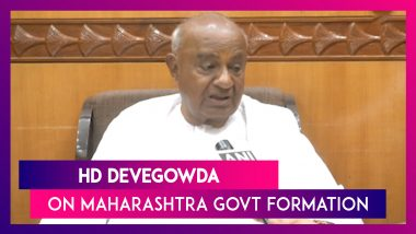 If Congress Supports Shiv Sena, Then They Should Not Disturb It For Next Five Years: HD Devegowda
