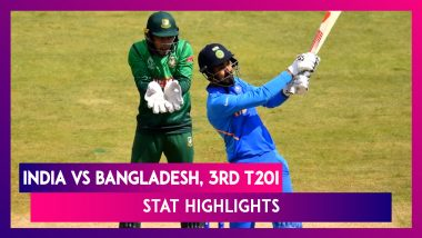 India vs Bangladesh Stat Highlights, 3rd T20I 2019: IND Win Series 2–1, Deepak Chahar Bags Hat-trick