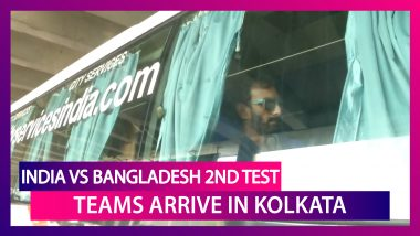 India vs Bangladesh 2nd Test: Teams Arrive In Kolkata For Day-Night Test, Will Use The Pink Ball