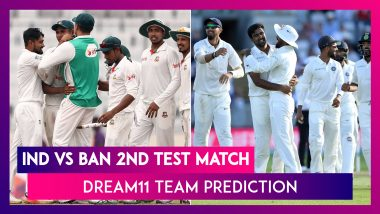 India vs Bangladesh Dream11 Team Prediction, 2nd Test 2019: Tips To Pick Best Playing XI