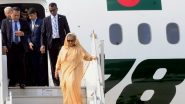 Sheikh Hasina Arrives in Kolkata for India vs Bangladesh, Pink Ball Test 2019