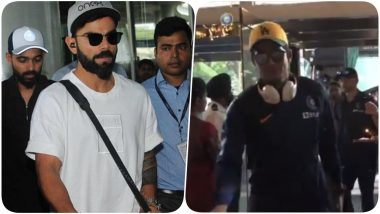 Team India Arrives In Kolkata to Play Historic Pink Ball Day-Night Test Match Against Bangladesh at Eden Gardens (Watch Video)