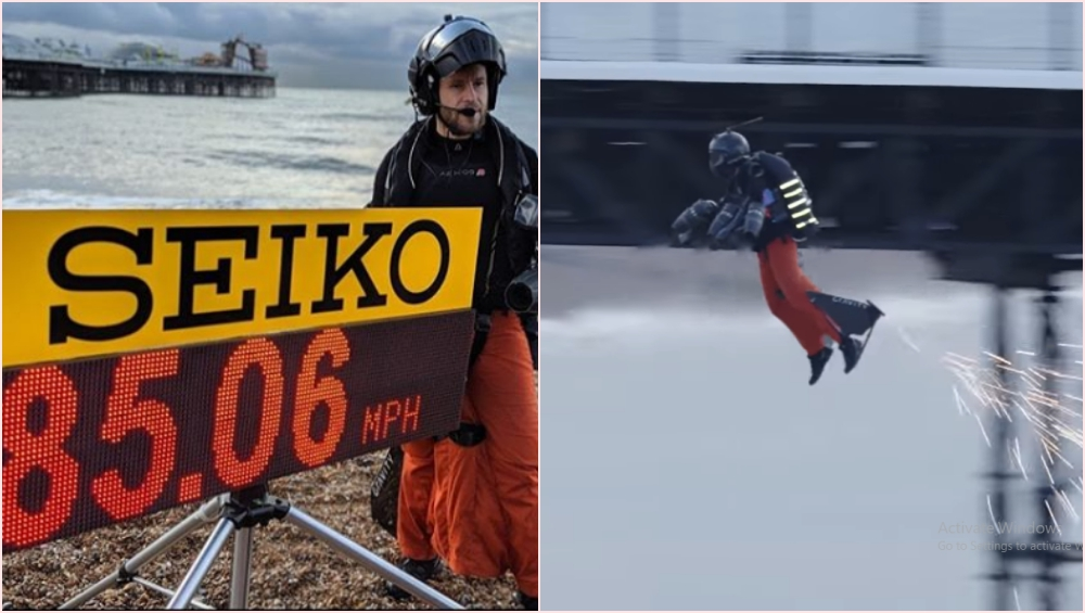 Richard Browning Makes Guinness World Record for Achieving the Fastest Speed in Body-Controlled Jet Engine Powered Suit; Watch Other Videos of the Real-Life Iron Man